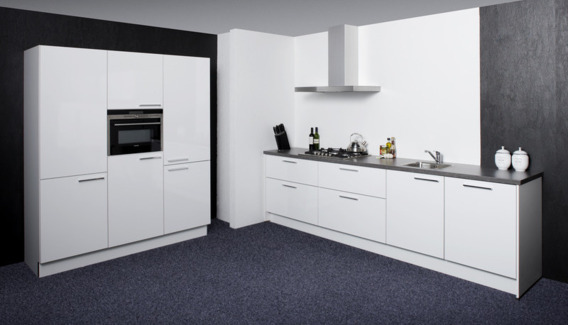 Complete Keuken Inclusief Montage : Hoogglans Wit, inclusief Siemens, inclusief Montage, supercompleet